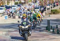 Il peloton Parigi Nizza 2013 in Nemours Immagini Stock