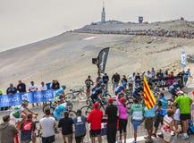 Il Peloton su Mont Ventoux Immagini Stock Libere da Diritti