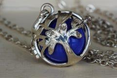 Il pendente d'argento del visitatore Fotografia Stock