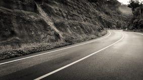 Il pendio di collina curvo Fotografie Stock