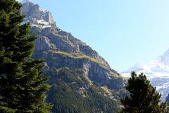 Il pendio di una montagna massiccia Fotografie Stock Libere da Diritti