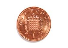 Il penny ha isolato Immagini Stock Libere da Diritti