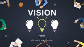 Il pensiero creativo di idee immagina il concetto di ispirazione Fotografie Stock
