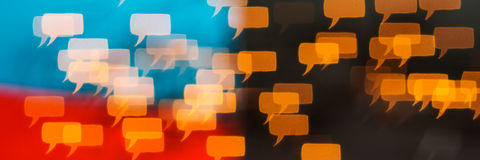 Il pensiero e parlare diversamente sono libertà di parola Immagini Stock