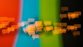 Il pensiero e parlare diversamente sono libertà di parola Immagine Stock