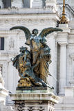 Il Pensiero - Thought. One the statue of the Altar of the Fatherland on the left of Vittorio Emanuele Stock Images