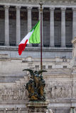 Il Pensiero - Thought. One the statue of the Altar of the Fatherland on the left of Vittorio Emanuele Stock Photos