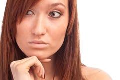 Il pensiveness Fotografia Stock