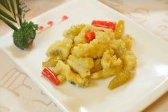 Il pepe ha fritto il rullo dei pesci di merluzzo Immagini Stock Libere da Diritti
