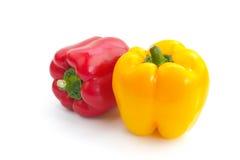 Il peperone dolce giallo e rosso Immagine Stock Libera da Diritti
