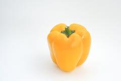 Il peperone dolce giallo isolato fotografia stock libera da diritti