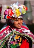 Il Perù, Cuzco, donna indiana quechua Immagini Stock Libere da Diritti