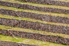 Il Perù, Moray, terrazzi antichi della circolare di inca. Il probabile là è il laboratorio di inche dell'agricoltura Immagini Stock Libere da Diritti