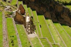 Il Perù, valle sacra, fortezza del Inca di Ollantaytambo Fotografie Stock