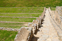 Il Perù, valle sacra, fortezza del Inca di Ollantaytambo Fotografia Stock Libera da Diritti