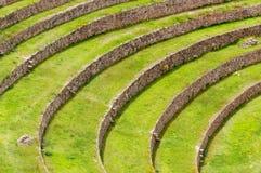 Il Perù, valle sacra, laboratorio di agricoltura del Inca Immagine Stock