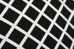 Il percalle moderno senza cuciture del pixel modella la struttura ritmica del fondo geometrico in bianco e nero Fotografie Stock Libere da Diritti