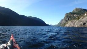 Il percorso dallo Stanghelle in Norvegia fotografie stock libere da diritti