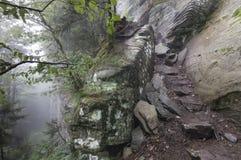 Il percorso dei diavoli nelle montagne di Catskill fotografie stock