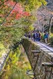 Il percorso del filosofo a Kyoto, Giappone Immagine Stock