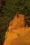 Il percorso del Roussillon vicino ocraceo, Francia Fotografia Stock