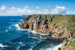 Il percorso del sud della costa ovest in Cornovaglia fotografie stock