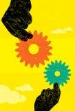 Il percorso di affari collaboration illustrazione vettoriale