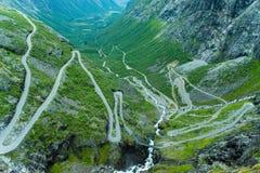 Il percorso di Trollstigen immagini stock libere da diritti