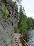 Il percorso lungo il lago fotografia stock