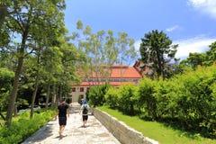 Il percorso nel campus universitario di xiamen, adobe rgb Fotografia Stock Libera da Diritti
