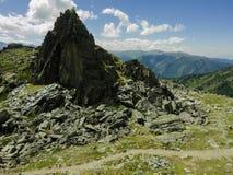 Il percorso nelle montagne di Altai Immagini Stock Libere da Diritti