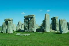Il percorso a Stonehenge - sito del patrimonio mondiale dell'Unesco Immagini Stock Libere da Diritti