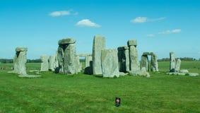 Il percorso a Stonehenge - sito del patrimonio mondiale dell'Unesco Fotografie Stock