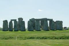 Il percorso a Stonehenge - sito del patrimonio mondiale dell'Unesco Immagine Stock