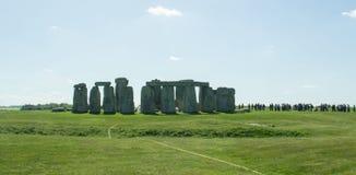 Il percorso a Stonehenge - sito del patrimonio mondiale dell'Unesco Immagini Stock