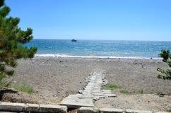 Il percorso va alla spiaggia Immagine Stock