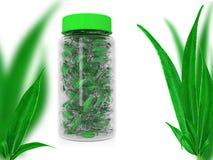 Il perforatum di erbe di Medicine Capsula nella Banca Immagini Stock Libere da Diritti