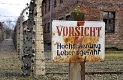 Il pericolo, alta tensione Fotografia Stock Libera da Diritti