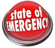 Il pericolo d'avvertimento infiammante rosso Cris del bottone virtuale dello stato d'emergenza Immagini Stock