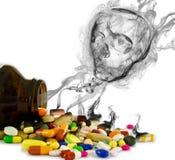 Il pericolo dalle droghe (isolate) Fotografia Stock Libera da Diritti