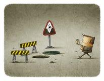Il pericolo degli smartphones royalty illustrazione gratis