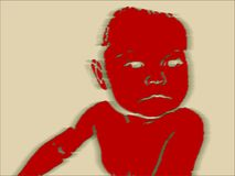Il pericolo del bambino illustrazione vettoriale