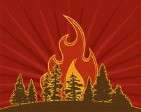 Il pericolo del fuoco Fotografia Stock Libera da Diritti
