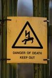 Il pericolo del segno di morte Fotografia Stock Libera da Diritti