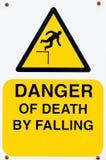 Il pericolo del segno di morte Immagine Stock Libera da Diritti