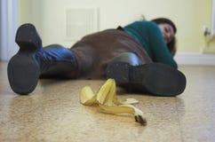 Il pericolo della banana! Fotografia Stock Libera da Diritti
