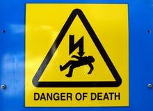 Il pericolo dello shock elettrico di morte Fotografia Stock Libera da Diritti