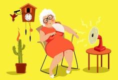 Il pericolo di esaurimento da calore royalty illustrazione gratis