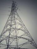 Il pericolo Elettricità ad alta tensione 3D Immagini Stock