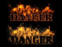 Il pericolo nel fuoco Fotografie Stock